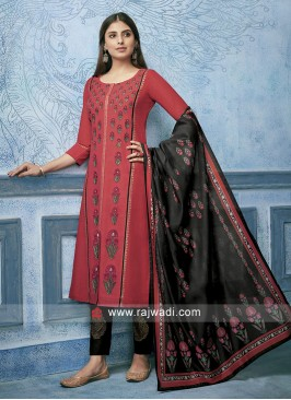Shagufta Cotton Silk Trouser Salwar Suit