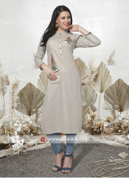 Thread Work Readymade Kurti