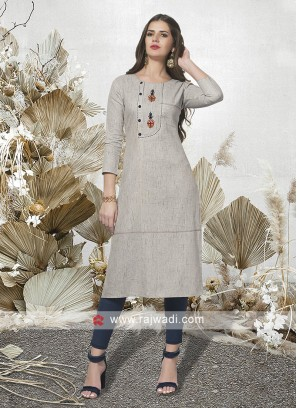 Light Grey Casual Wear Kurti
