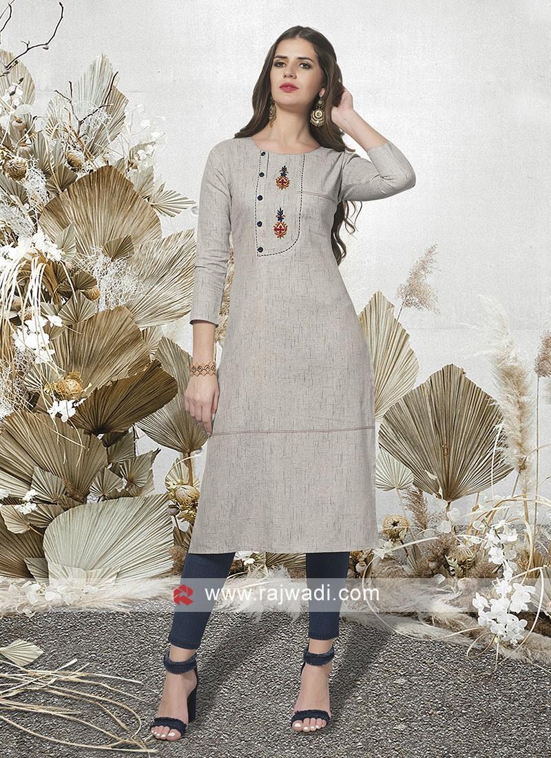Light Grey Casual Wear Kurti