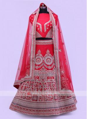 Red Bridal Lehenga Choli