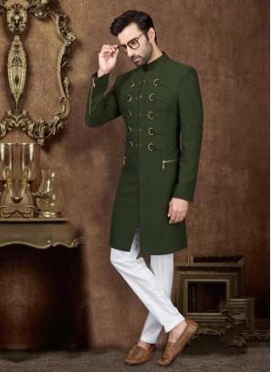 Stylish Green Indo-Western