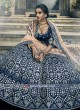 Navy Art Silk Lehenga Choli