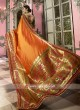 Banarasi Silk Saree in Orange
