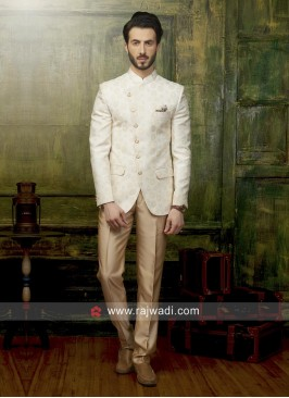 Stylish Jodhpuri Suit in Cream