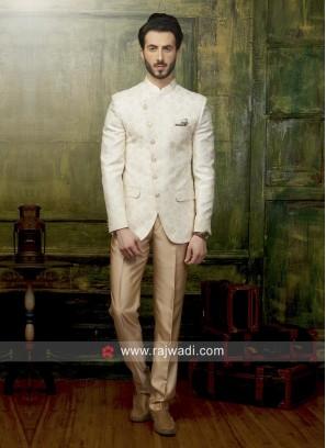 Stylish Jodhpuri Suit in Cream