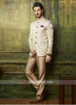 Attractive Cream Jodhpuri Suit