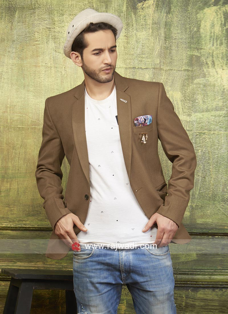 Imported Fabric Plain Blazer For Wedding