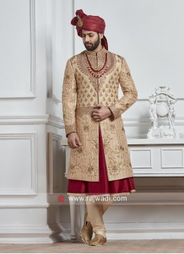Attractive Silk Heavy Embroidered Sherwani