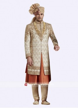 Anarkali Style Designer Sherwani For Groom