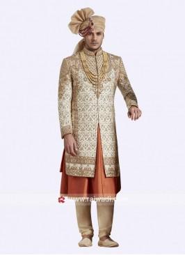 Anarkali Style Designer Sherwani For Groom
