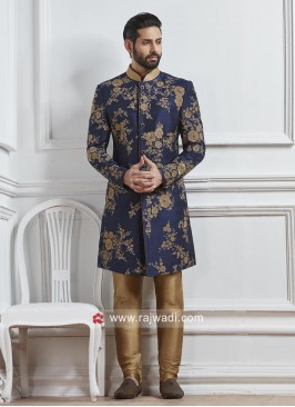 Attractive Silk Fabric Indo Western