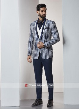 Stylish Terry Rayon Blue Color Suit