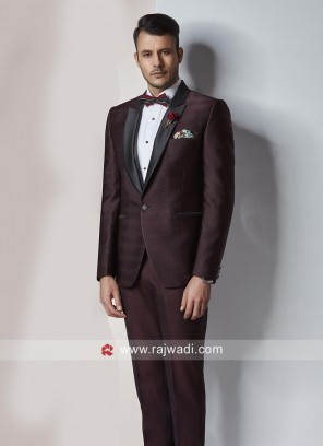 Attractive Wine Color Imported Suit