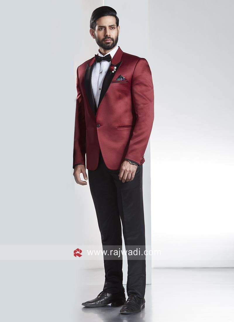 Imported Fabric Suit With Stylish Lapel