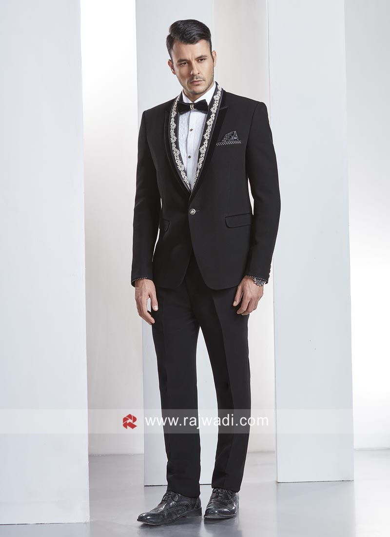 Marvelous Black Color Suit For Party