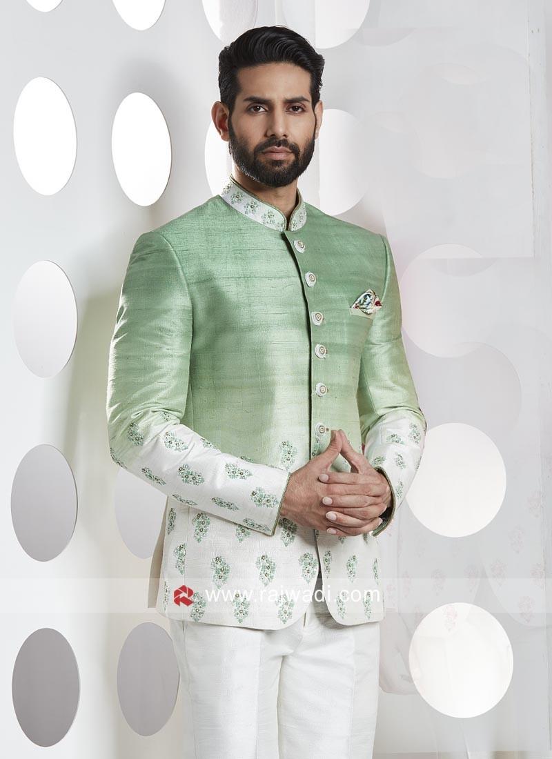 Silk Fabric Jodhpuri Suit For Party