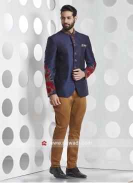 Silk Fabric Party Wear Jodhpuri Suit