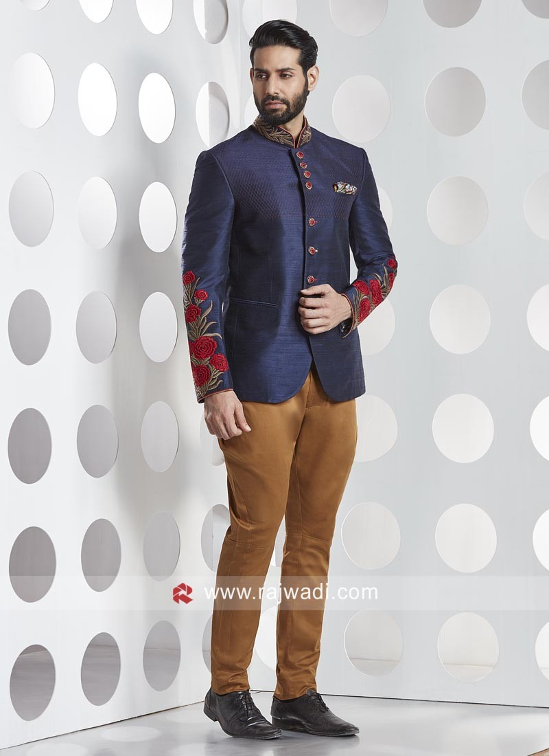 Silk Fabric Party Wear Jodhpuri Suit