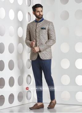 Designer Blue Jodhpuri Suit