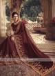 Satin Silk Maroon Saree