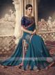 Art Silk Peacock Blue Saree