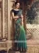 Chiffon Silk Green Shaded Saree