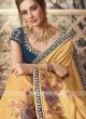 Art Silk Saree In Mustard Yellow