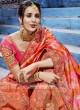 Orange and Pink Designer Half Saree