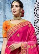 Orange and Pink Half n Half Saree