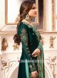 Bottle Green Gharara Suit with Dupatta