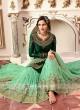 Designer Gharara Suit in Green