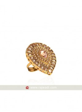 Golden Adjustable Ring