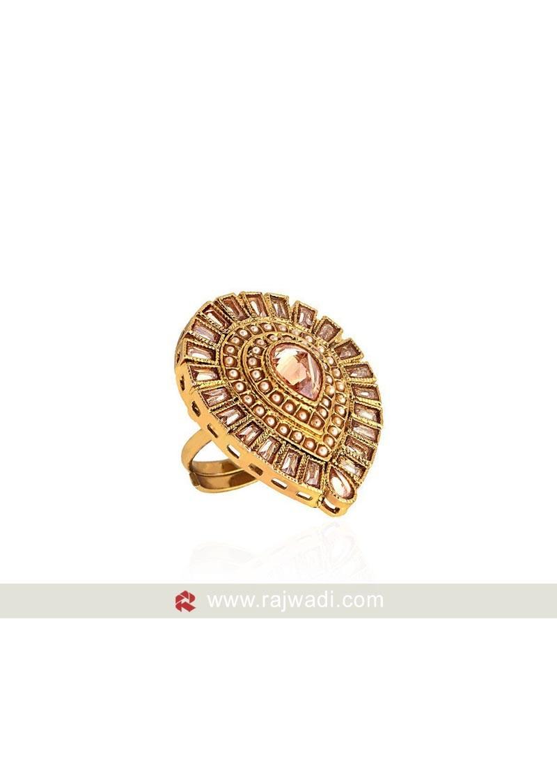 Golden Adjustable Ring