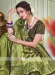 Thread Embroidery Silk Saree