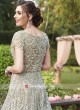 Grey Long Trail Wedding Gown