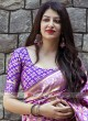Banarasi Silk Sari in Purple