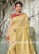Resham Work Saree in Golden Yellow