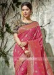 Designer Zari Work Saree with Tassels