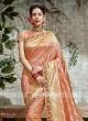 Peach Banarasi Silk Saree