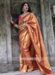 Kanjeevaram Silk Woven Saree with Tassels