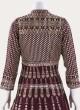 Magenta Crepe Silk Embroidered Anarkali Suit