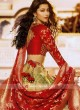 Designer Cream and Red Lehenga Choli