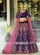 Designer Wedding Flower Work Lehenga
