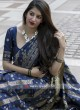 Banarasi Silk Woven Saree in Navy Blue