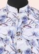 Marvelous White Flower Print Koti