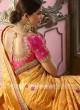 Mustard Yellow Saree with Pink Blouse