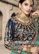 Green Shaded Embroidered Lehenga Set