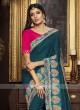 Satin Silk Saree with Raw Silk Blouse