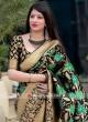 Black Flower Weaving Saree